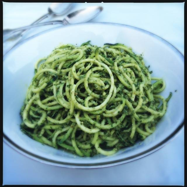 Detox Summer Courgetti and Pesto Recipe