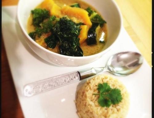 Squash, Kale & Coconut Thai Curry